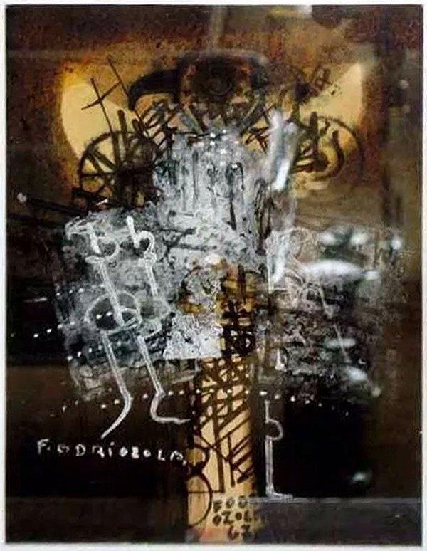 Fernando Odriozola - Quadro, Arte em Pintura, Técnica Mista, Moldura Modelo Caixa