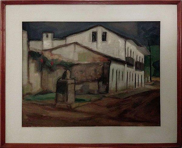 Glycério Geraldo Carnelosso - Quadro, Arte em Pintura, Óleo sobre Tela, Casario