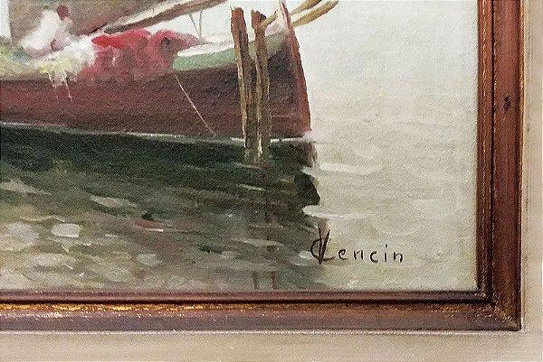 Vicenzo Cencin - Marinha - Quadro, Arte em Pintura, Óleo S/ Tela, Assinada
