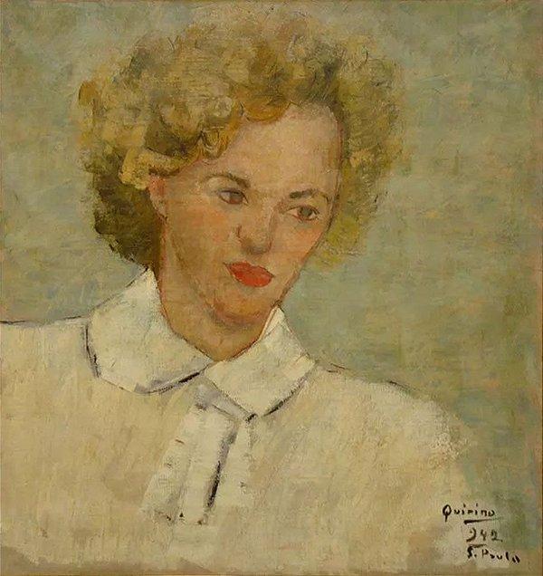 Quirino da Silva - Quadro, Arte em Pintura, Óleo sobre Tela, Figurativo Feminino