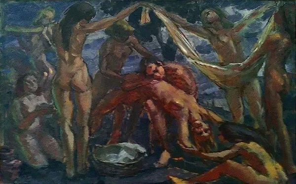 Francisco Úbeda Marín - Quadro, Arte em Pintura, Original, Óleo S/ Eucatex, Assinada, de 1978