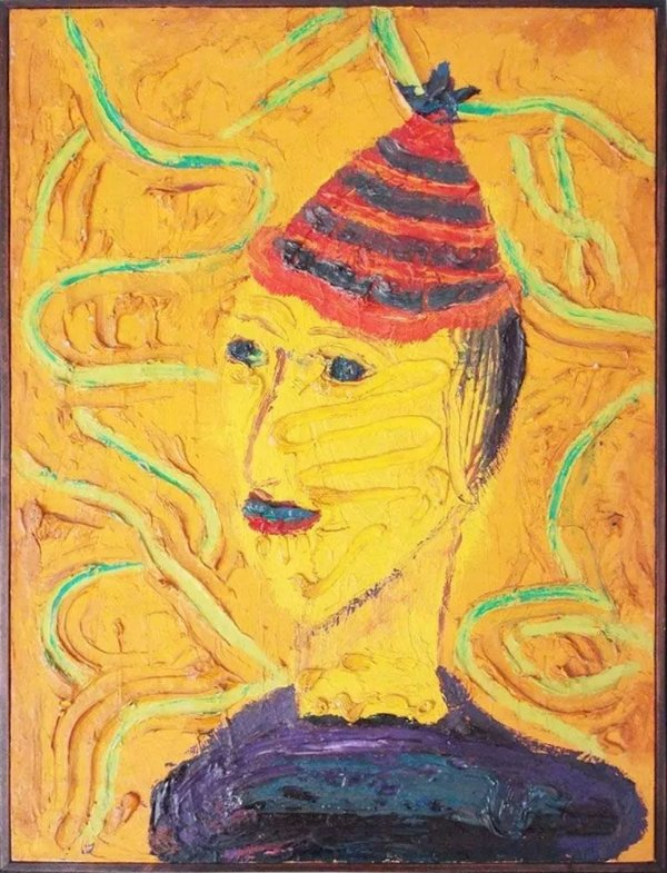 Augusto Herkenhoff - Quadro, Arte em Pintura, Original, Acrílico sobre Tela, Forte Relevo, Assinada