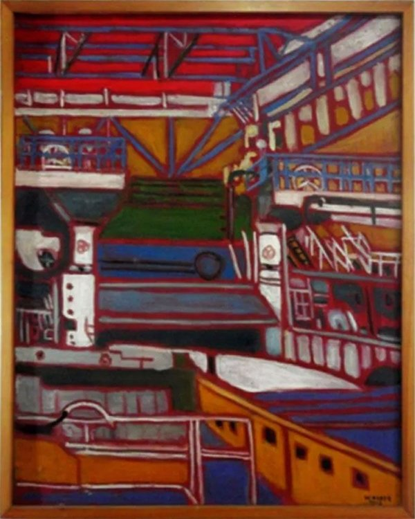 Waldyr Mattos - Quadro, Arte em Pintura Original, Óleo S/ Tela, Assinada