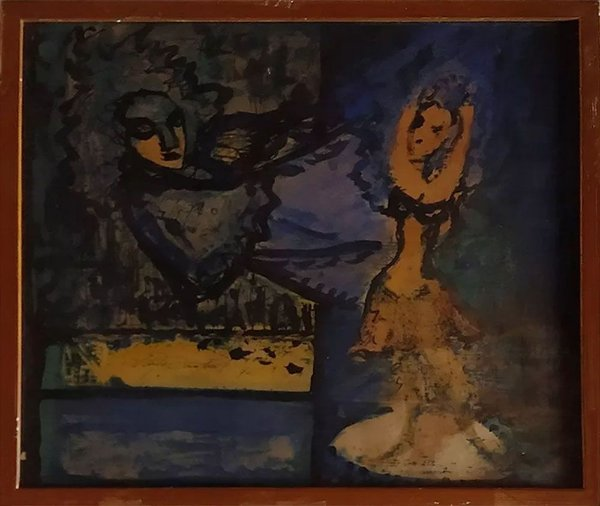 Newton Cavalcanti - Quadro, Arte em Pintura, Técnica Mista, de 1970