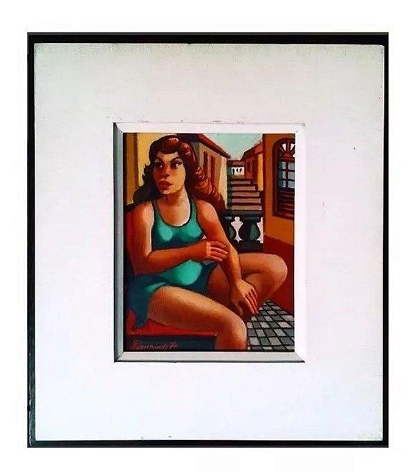 Fernando P. - Mulata - Quadro, Arte em Pintura, Original, Óleo S/ Tela, Assinada