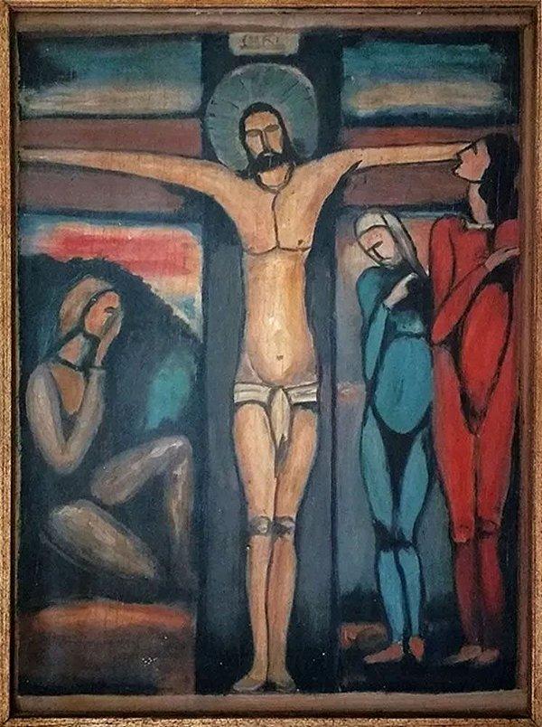 Georges Rouault - Quadro, Arte em Pintura, Óleo S/ Madeira, Crucificação