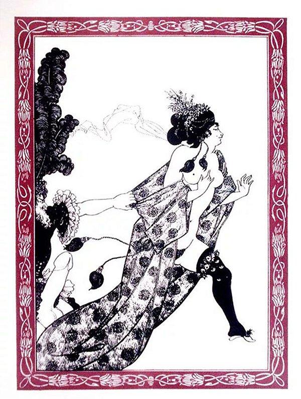 Aubrey Beardsley -  Arte em Gravura, 44 Litogravuras Originais, Tema Erótico
