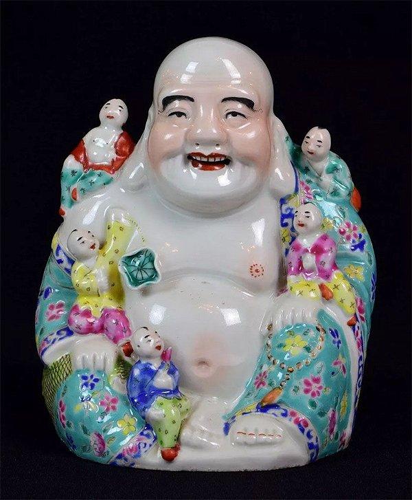 Japão - Escultura em Porcelana, Buda da Fertilidade, Origem Japonesa