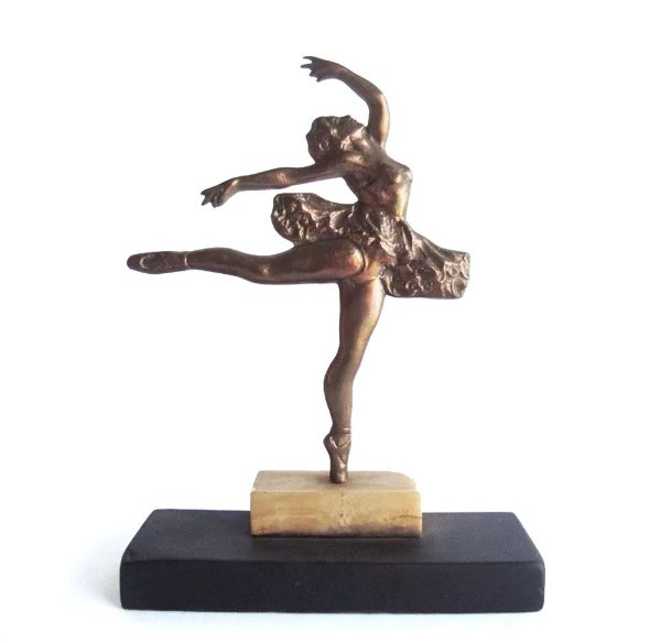 Escultura em Bronze, Figura de Bailarina