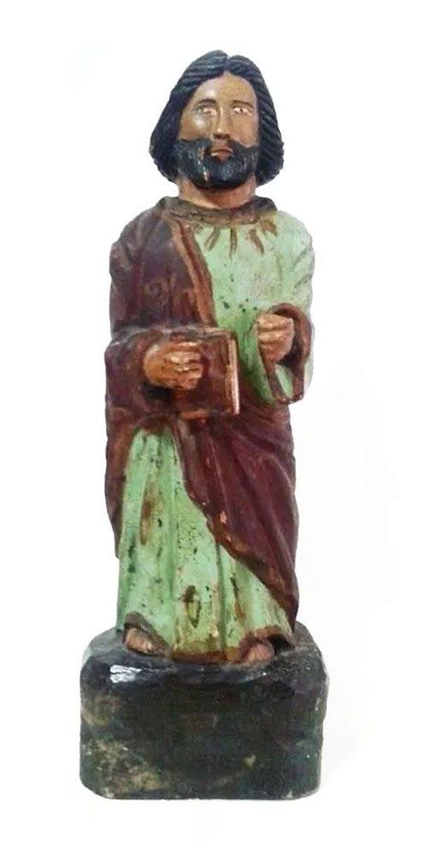 Arte Sacra, Escultura em Madeira Policromada, Imagem de Santo Agostinho