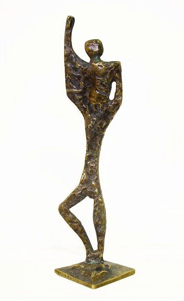 Escultura em Bronze, Assinada W. Motta, Estilo Vasco Prado e Stockinger