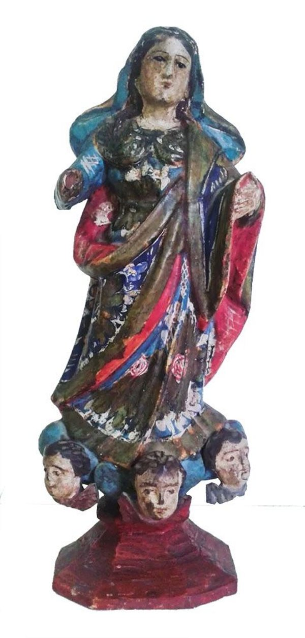 Arte Sacra, Antiga Escultura em Madeira Policromada, Nossa Senhora da Conceição