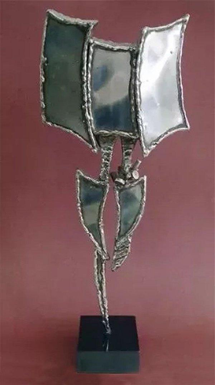 Escultura em Alumínio, Abstrato, no Estilo Vlavianos