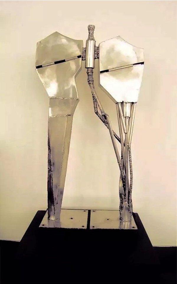 Juarez - Escultura em Alumínio 1 Mt de Altura, Modernista, Assinada, 1988