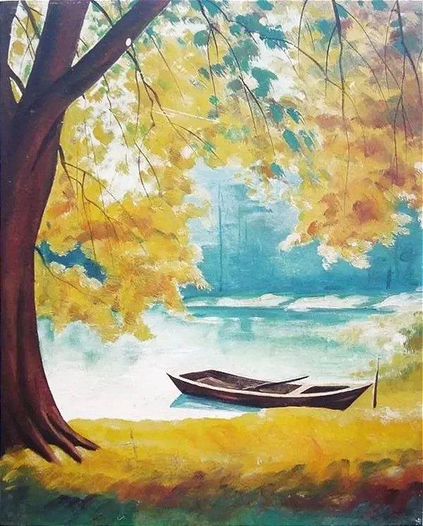 Maruyama - Pintura Original, Óleo Sobre Eucatex, Assinada