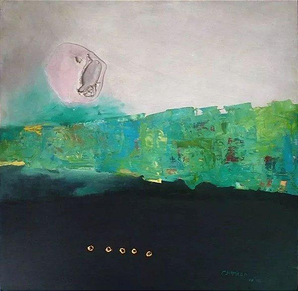 CH Milani - Pintura Original, Acrílica Sobre Eucatex, Assinada, datada de 1988