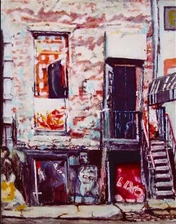 Quadro, Arte em Pintura, Casario, Acrílico sobre Eucatex