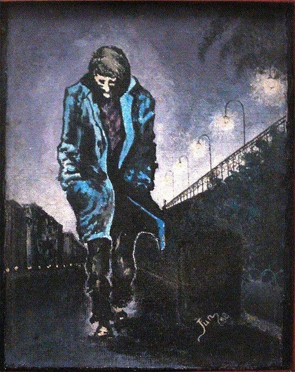 Jun - Quadro, Arte em Pintura, Óleo S/ Tela Colada S/ Madeira, Assinada, de 1988