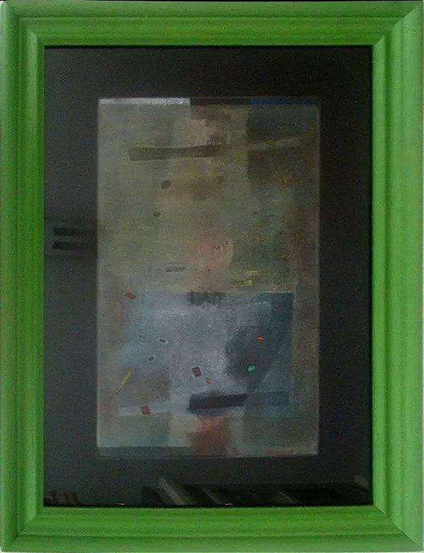 Emiliano - Quadro, Arte em Pintura Original, Monotipia, Assinada