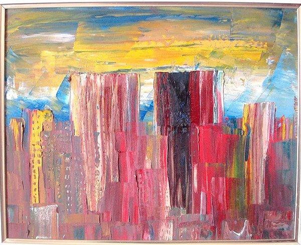 Claudio D. Maksoud - Quadro, Arte em Pintura, Acrílica S/ Tela Assinado, de 1989