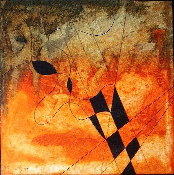 Maria Luiza Moraes - Quadro, Arte em Pintura, Óleo S/ Tela, Assinada, 50 x 50 cm
