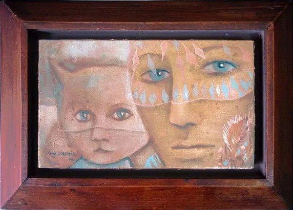Luiz Jasmin - Quadro, Arte em Pintura, Óleo S/ Tela, Assinada, 1977