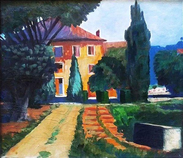 G. Adler - Quadro, Arte em Pintura, Óleo S/ Eucatex, Assinada no Verso