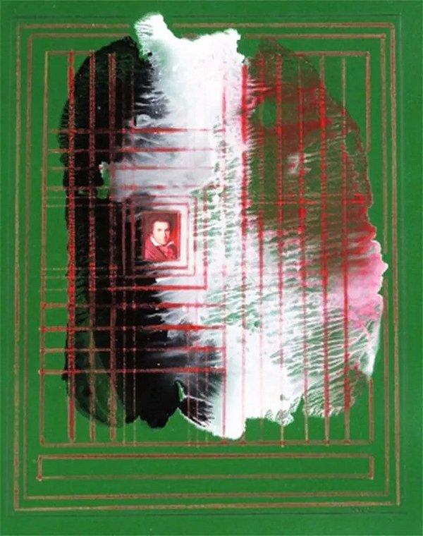 Pavel Kudis - Quadro, Arte em Pintura Original, Técnica Mista e Colagem, Assinada, 1983