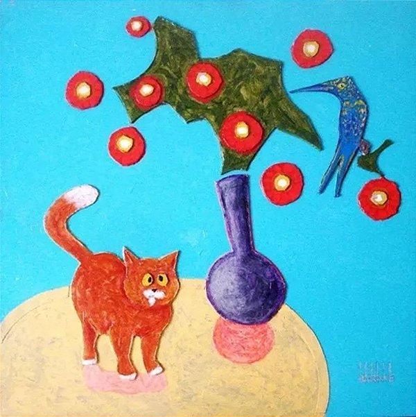 Cláudio Barake - Quadro, Arte em Pintura, Técnica Mista, Acrílico S/ Madeira Tridimensional, 2009