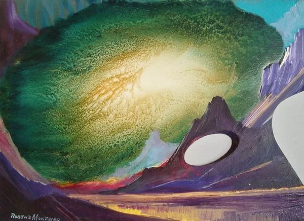 Rubens Monteiro - Quadro, Arte em Pintura, Óleo S/ Madeira, Paleta de Pintura, Composição