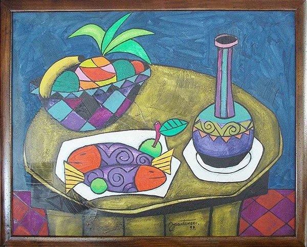 Joubert Pantanero - Quadro, Arte em Pintura, Óleo S/ Tela, Original, Assinado, 1999 - 1,00mt x 80cm