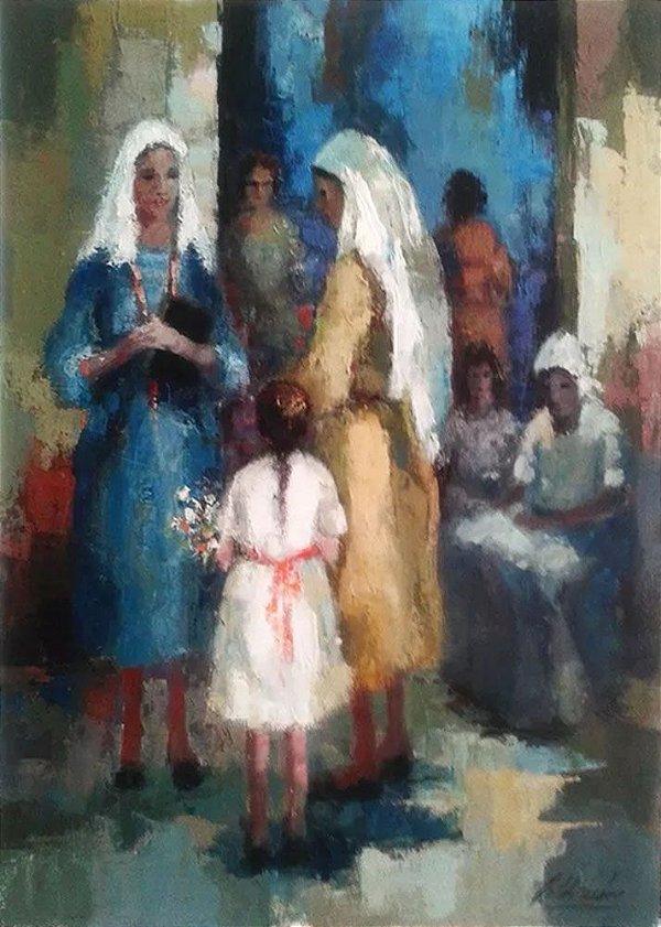 Gilda Lisboa - Quadro, Arte em Pintura, Original, Assinada, Óleo Sobre Tela