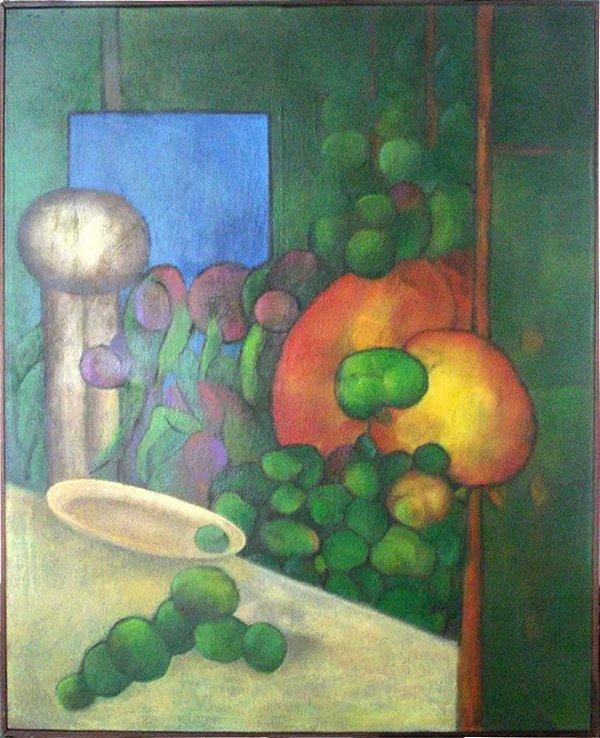 Fernando Bento - Quadro, Arte em Pintura Original, Óleo S/ Tela, Natureza Morta, Frutos