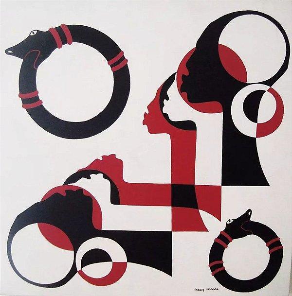 Iracy Carise - Quadro, Arte em Pintura Acrílica S/ Tela, Original, Assinada, Tema África