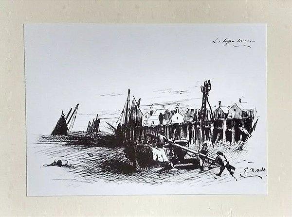 Eduardo de Martino - Portfólio 18 Estampas de Desenhos, Temática Marinha / Navegação, 1988