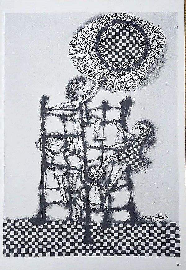 Darcy Penteado - Pasta Cultrix, Portfólio com 10 Estampas de Desenho, 1973