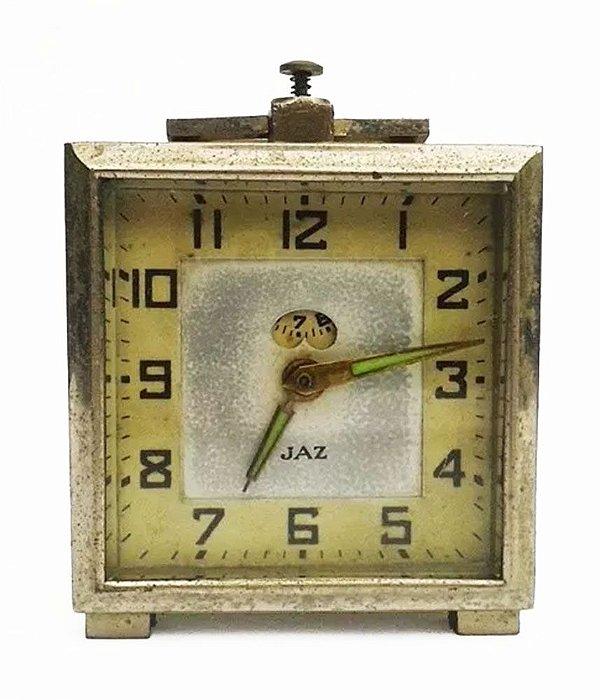 Jaz - Antigo Relógio de Mesa Francês, com Função Alarme