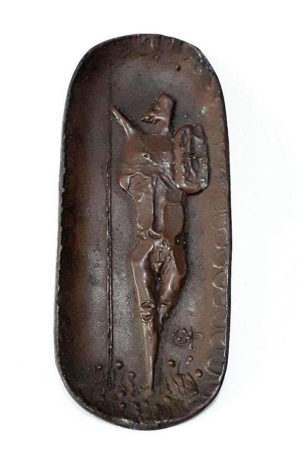 Stockinger, Francisco - Escultura em Bronze, Porta Cartão, Monogramada ST