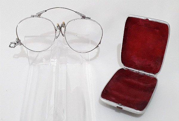 Par De Óculos Pince Nez Em Ouro Branco de 12k  - 1/10