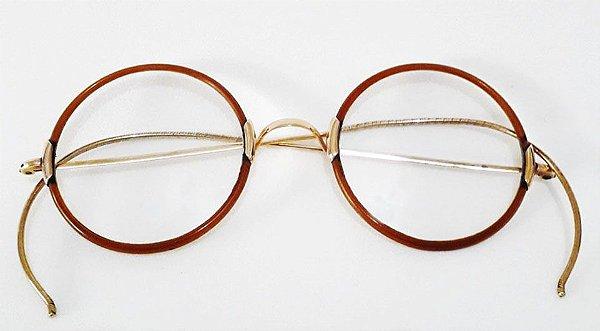Par de Óculos Antigos com Banho de Ouro, Estilo Harry Potter - Lenach