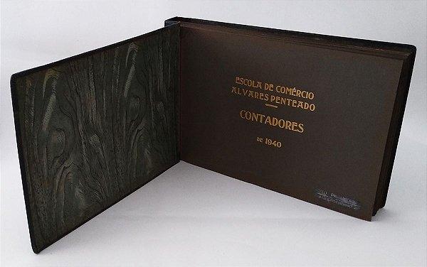 Album de Fotografia da Escola Alvares Penteado Formandos Contadores De 1940