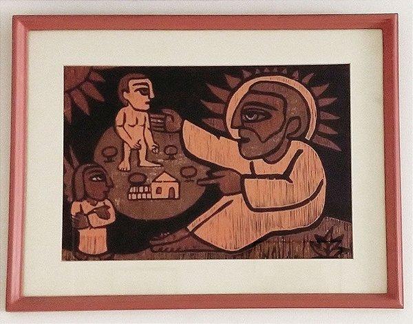 Raimundo De Oliveira - Xilogravura Original da Pequena Biblia
