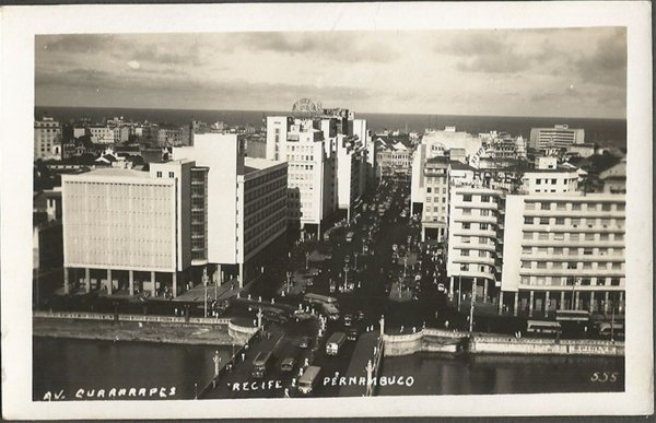 Recife - Pernambuco - Avenida Guararapes, Cartão Postal Antigo Fotográfico Original