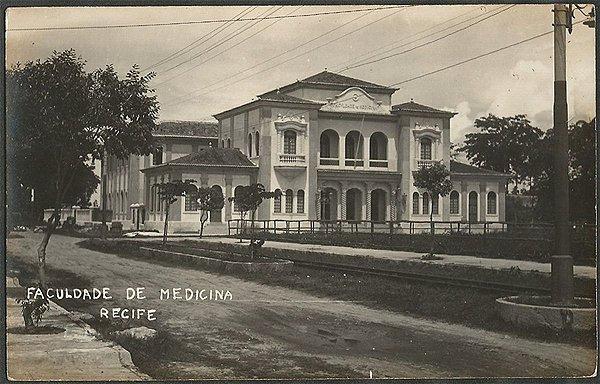 Recife - Pernambuco - Faculdade de Medicina, Cartão Postal Antigo Fotográfico
