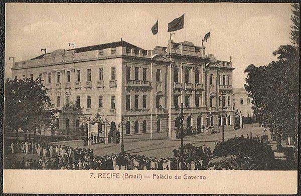 Recife - Pernambuco - Palácio do Governo, Cartão Postal Antigo Tipográfico