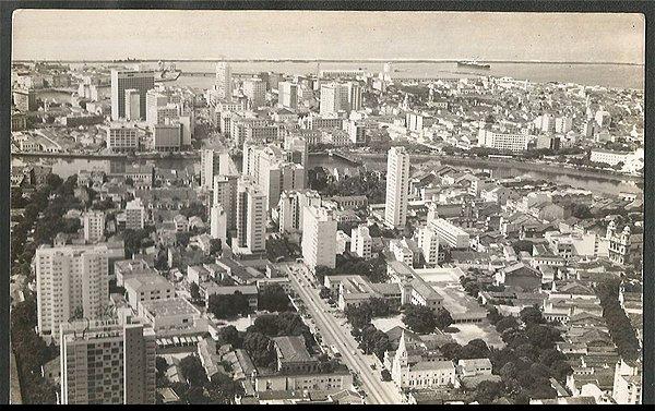 Recife - Pernambuco - Vista Aérea Parcial , Cartão Postal Antigo Fotográfico