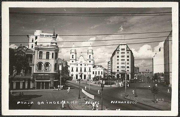 Recife - Pernambuco -  Praça Independência, Cartão Postal Fotográfico Antigo Original