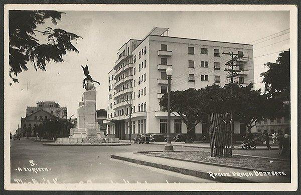 Recife - Pernambuco - Praça Dezessete, Cartão Postal Fotográfico Antigo Original