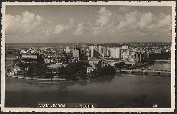 Recife - Pernambuco - Vista Parcial, Cartão Postal Fotográfico Antigo Original