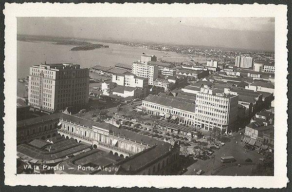 Rio Grande do Sul - Porto Alegre, Vista Parcial, Cartão Postal Fotográfico Antigo Original